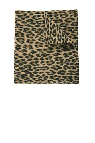 Port Authority Core Printed Fleece Blanket_Leopard Print_OSFA