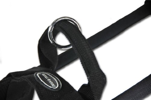 Dean-and-Tyler-Guide-Light-Nickel-Hardware-Nylon-Dog-Harness-BlackReflective-Large-Fits-Girth-29-Inch-to-39-Inch-Chest-Size-26-Inch-Max