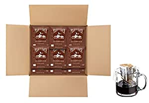Twin Peaks Colombian Decaf Single Serve Pour Over Drip Bag Medium Roast Coffee - 100 Single Cup Pouches
