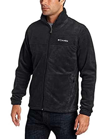 Columbia Men's Tall Steens Mountain Full Zip 2.0 Fleece Jacket, Black, Large/Tall