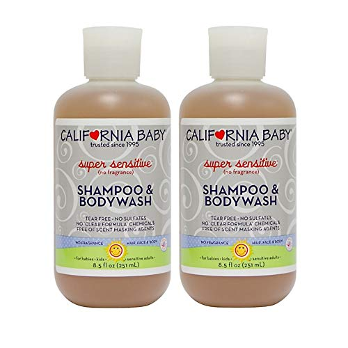 California Baby Super Sensitive Shampoo & Bodywash - 8.5 oz (Pack of 2)