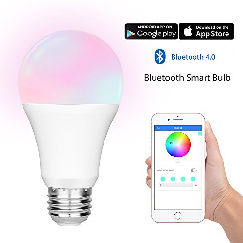 LIFU Smart Bulb Color Changing RGB LED Light - Bluetooth App Group Smartphone Controlled for Halloween Christmas Party - No Hub Needed