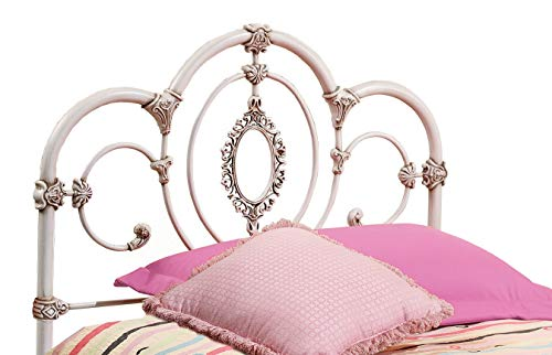 (Hillsdale Furniture 1310-340 Hillsdale Victoria Without Bed Frame Twin Headboard Antique White)