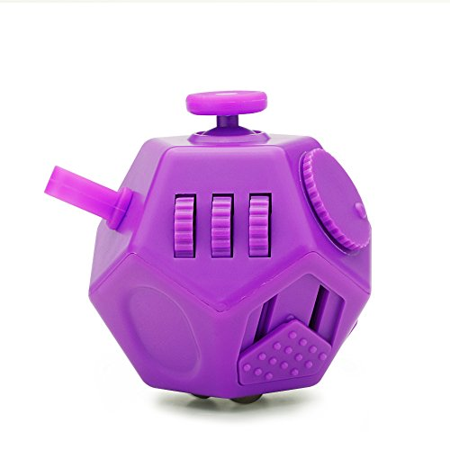 YUDOTE Updated Mini Fidget Toy 12 Sides Hand Dodecahedron Toys, Every Day Carry Fidgets Devices, Relieves Stress and Anxiety Antidepression, for Children and Adult, Purple