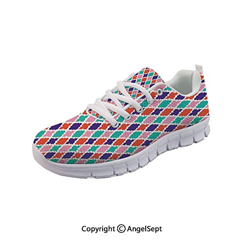 Fashion Sneakers Mosaic Tiles Oriental Asian Indonesian Outdoor Gym Shoes