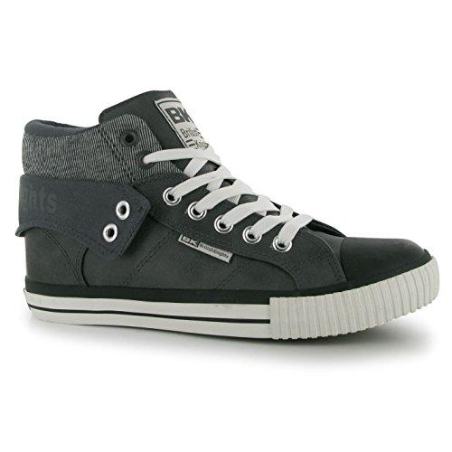 British Knights ROCO Fold Turnschuhe Herren dunkelgrau/schwarz Casual Sneakers Schuhe, Dunkelgrau / Schwarz, (UK8) (EU42) (US9)