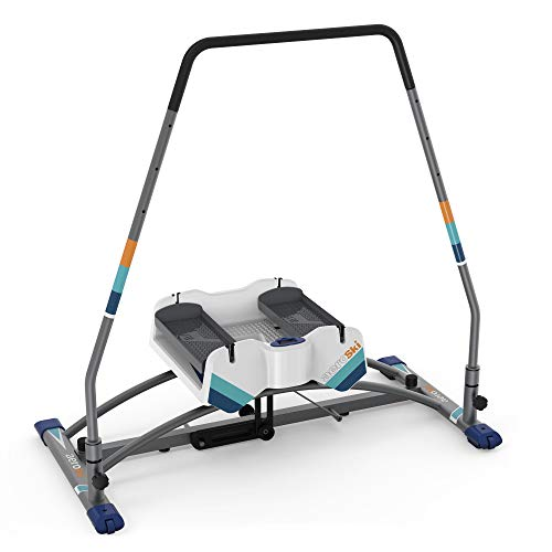 Aeroski Fitness Machine engages major muscle groups. Low-impact, Smooth, intense and fun calorie-burn motion. Lose weight+tone muscles. FREE VR Headset for a 3D SKI experience.VR FitnessAPP & SkiPoles