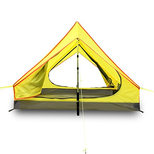 Survivalist Ultralight 2 person Tent for Backpacking Camping Hiking Waterproof A frame Lightweight 2 Men Tent-Alpenstock Excluded