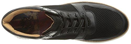 Anglais Blanchisserie Mens Preston Mode Sneaker Noir