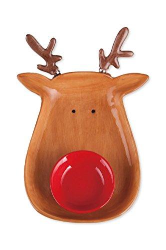 Transpac Reindeer Chip & Dip with Spreaders Set