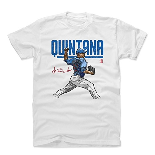 500 LEVEL Jose Quintana Cotton Shirt Medium White - Chicago Baseball Men's Apparel - Jose Quintana Hyper - Cubs Vintage T-shirt