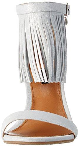 Belmondo 703367 03 Damen Knöchelriemchen Pumps Silber(Silber/Grau)