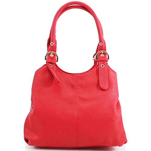 Mujer Piel M Otra Bolso Hombro With Style Para De Al Riddled Red wq0zZvAq
