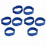 Fuxell 110mm Dia 38mm Width Central Air Conditioner Pipe Clip Clamp Blue 8pcs
