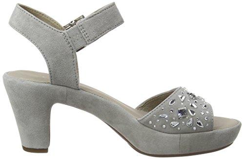 GaborGabor - Sandalias de Punta Descubierta Mujer Gris - Grey (Grey Suede/Strass)