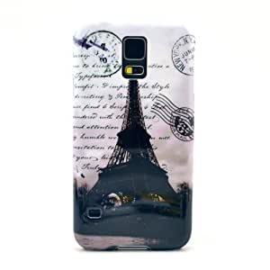 Eiffel Tower Letter Postmark Rigid Case Cover For Samsung Galaxy S5 S 5 SV SM-G900F i9600