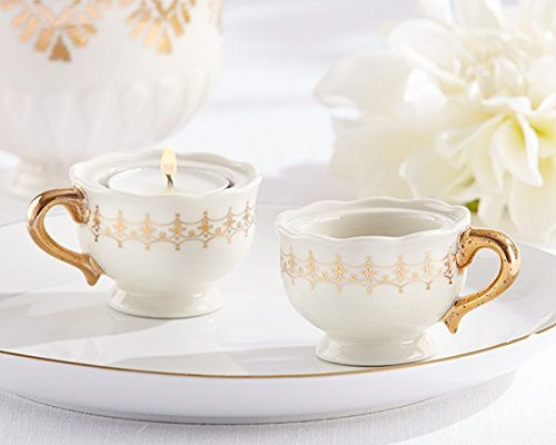 Classic Gold Teacups Tealight Holder - Total items 72