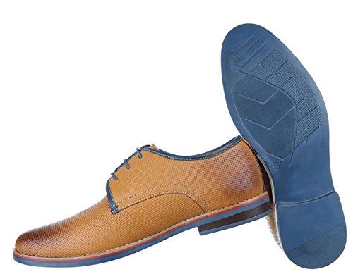 Herren Business-schuhe Schuhe Elegant Leder Schnürer Boots Schwarz Braun Camel 40 41 42 43 44 45 Camel