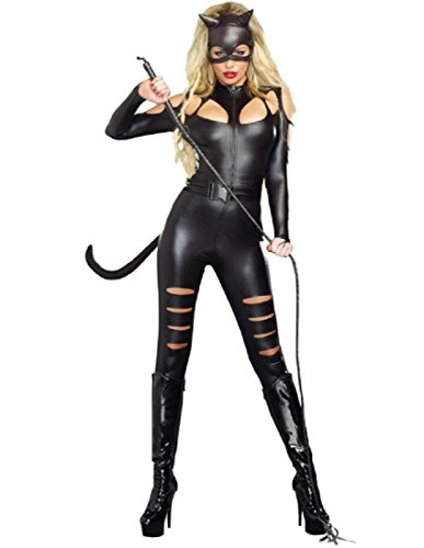 [Dreamgirl Women's Catwoman Costume, Black, Large] (Sexy Cat Costumes For Women)