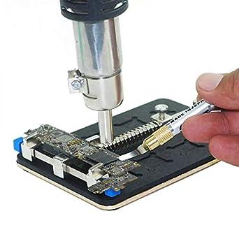MASUNN Universal Pcb Titular Fixture Jig Stand Teléfono Móvil Smt Repair Soldador De Soldadura Herramienta De Trabajo Para Iphone Con Ic Groove: Amazon.es: ...