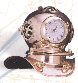 Amazon.com: HS Polished Brass Quartz Dive Helmet Clock ...