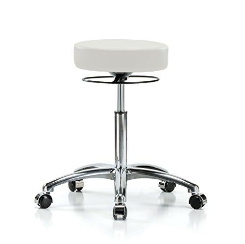 Perch Chrome Stella Rolling Adjustable Stool Medical Salon Spa Massage Tattoo Office 21
