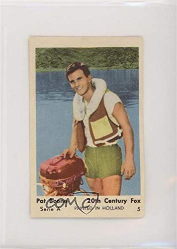 Pat Boone Ungraded COMC Poor to Fair (Trading Card) 1960s Dutch Gum Serie A - [Base] - Printed in Holland #5 ()