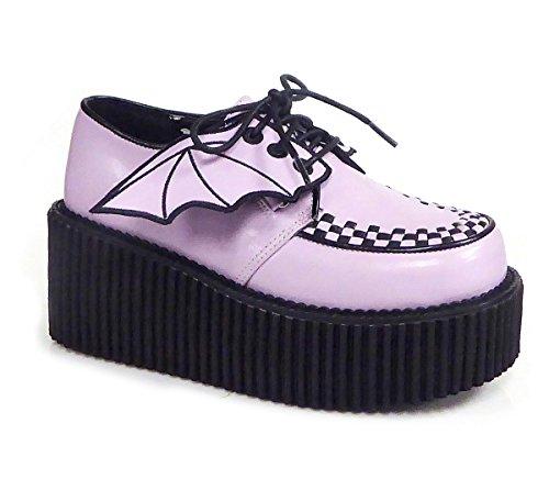Demonia CREEPER-205 Womens Boots Lavender Vegan Leather FfRusYnnZr