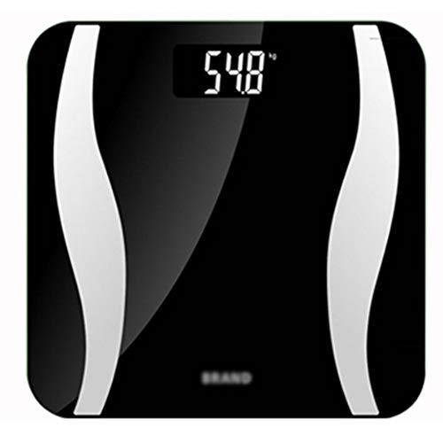 XIAOBAI Bathroom Scales Easy to Read Digital Black Bluetooth Slim Design Smart Body Fat Scales