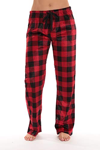 #followme Fleece Pajama Pants for Women Sleepwear PJs 45803-10195-RED-XL