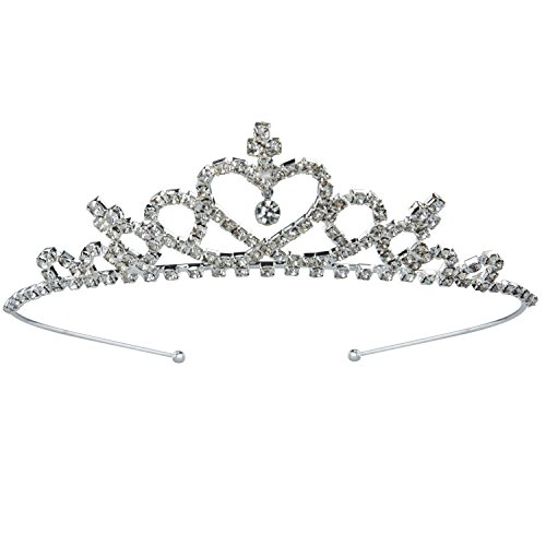 Weileenice Princess Crown Costume Headband Bridal Wedding Brides Tiara Rhinestones Party Prom Headdress Accessories -