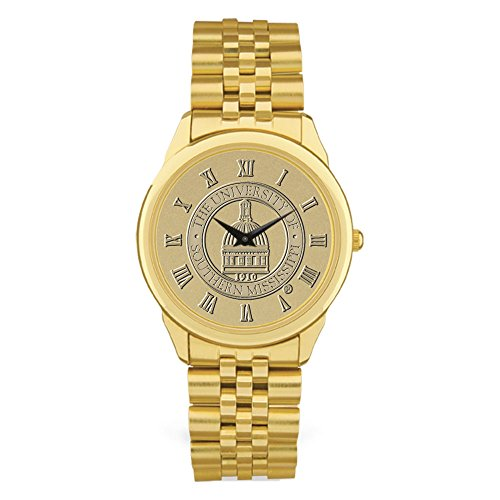 (AdSpec NCAA Southern Mississippi Golden Eagles Men's Wristwatch, One Size, Gold)