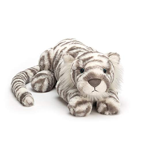 Jellycat Sacha Snow Tiger Stuffed Animal, Really Big, 33 - Sasha Leopard