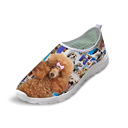 Animal Poodle Puppy Slip on Running Shoes Sport Sneakers 45 chsl2IwFx
