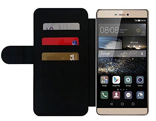 Funda Carcasa Cubierta de PU Cuero para Huawei P8 - Buena Suerte by Siebenhuehner