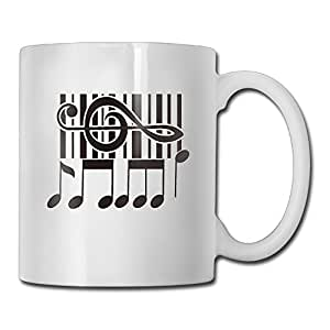 Mug Musical Notation Keep Calm And Drink Custom Tea Coffee Cup White One Size