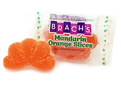 Brach's Premium Mandarin Orange Slices Individually Wrapped Candy, 1 pound