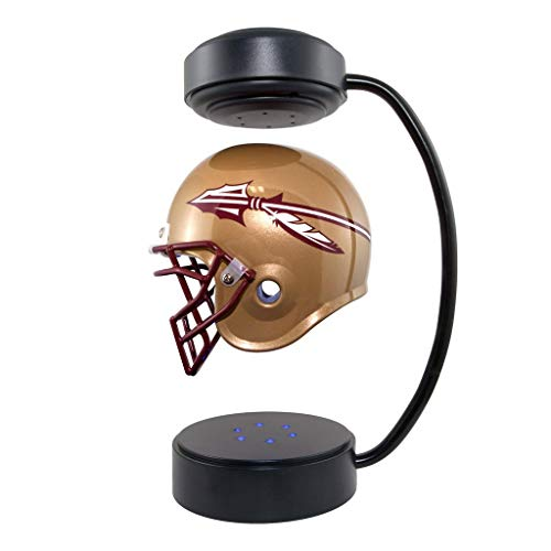Florida State Seminoles Led - Florida State Seminoles NCAA Hover Helmet - Collectible Levitating Football Helmet with Electromagnetic Stand