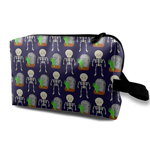 (HHFASN Skeletons and Tombstones Multifunction Makeup Bag Pouch Purse Handbag Organizer Large Cosmetic Bag Stationery Pouch)