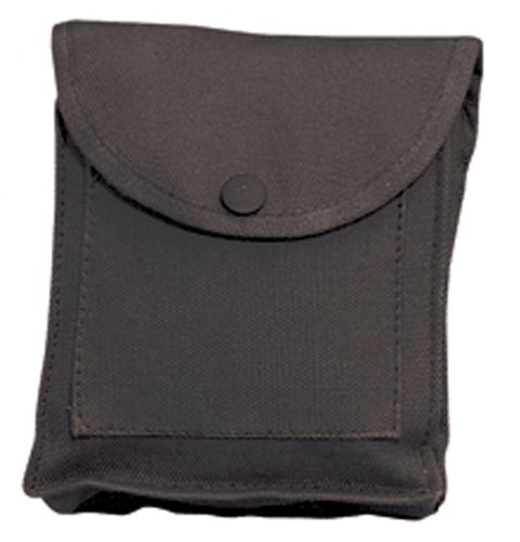 Canvas Heavyweight Belt - Rothco Black Utility Pouch