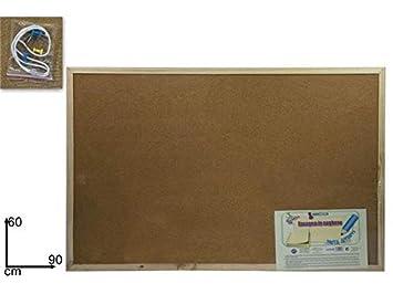 pizarra porta notas de corcho 60 x 90 cm: Amazon.es: Oficina ...