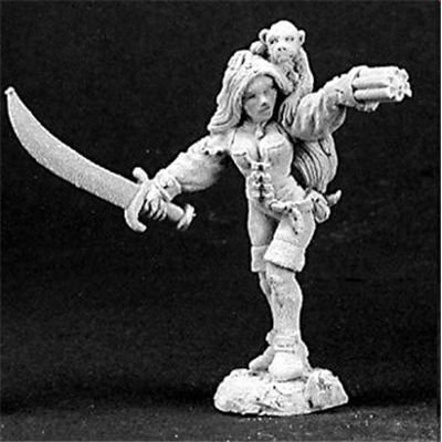 Reaper Miniatures Sela Windsprite, Elf Pirate 03128 Dark Heaven Unpainted Metal (Rogue Corset)