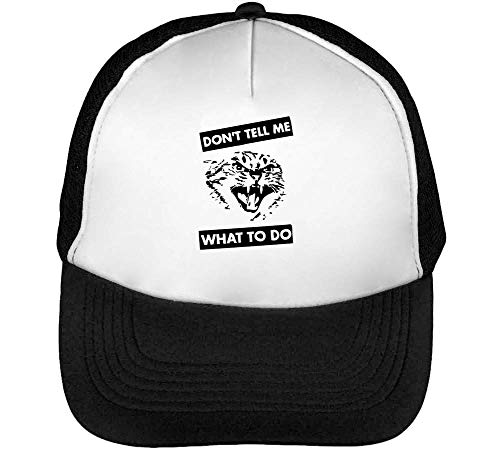 To Do Tell Snapback Negro What Cat Angry Gorras Hombre Blanco Beisbol Don'T EwIgOX