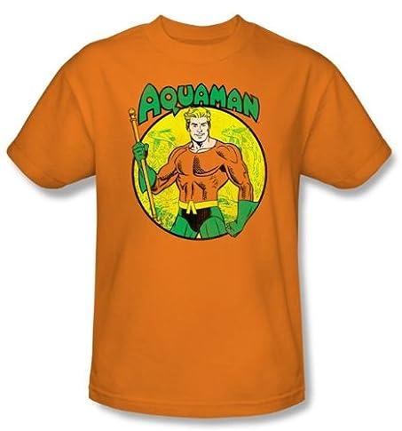 amazon com aquaman kids t shirt dc comics superhero orange youth