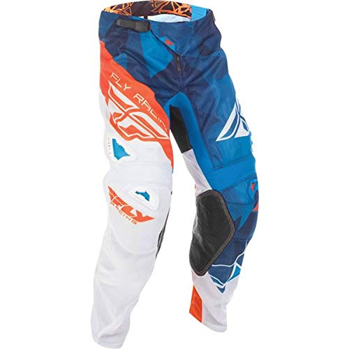 Fly Racing Unisex-Adult Kinetic Mesh Pants Blue/White/Orange Size 32 by Fly Racing
