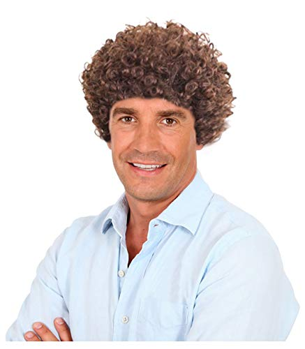 70s Short Brown Afro Disco Wig Wig Simmons Costume Wig Disco Wig for ()