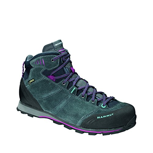 Mammut Wall Guide Mid GTX® Women (Backpacking/Hiking Footwear (Mid)), color:graphite-amarante;size:5.5 UK / 38.5EUR