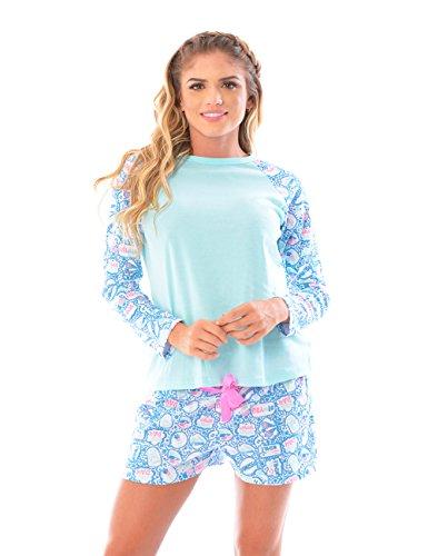 Womens Pajama Shorts Sleeve Matching product image