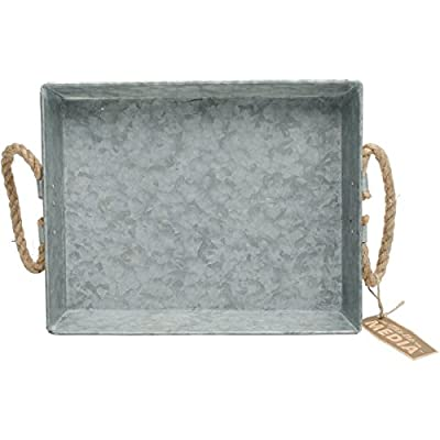 "Hampton Art JB0952 Mix The Media Galvanized Tray, 11.5"" x 9"" x 2"" by Hampton Art"