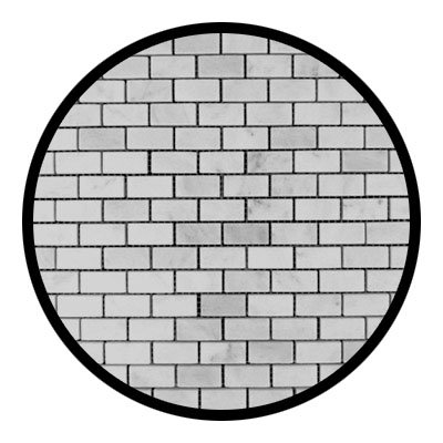 Carrara Marble Italian White Bianco Carrera Mini Brick Mosaic Tile Polished -